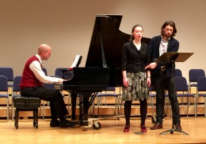 Masterclass at Houghton College, including both undergraduate and graduate students.